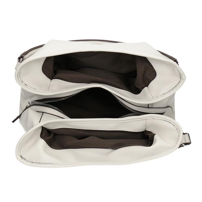 Bílá kabelka s přezkou bata, bílá, 961-1681 - 15