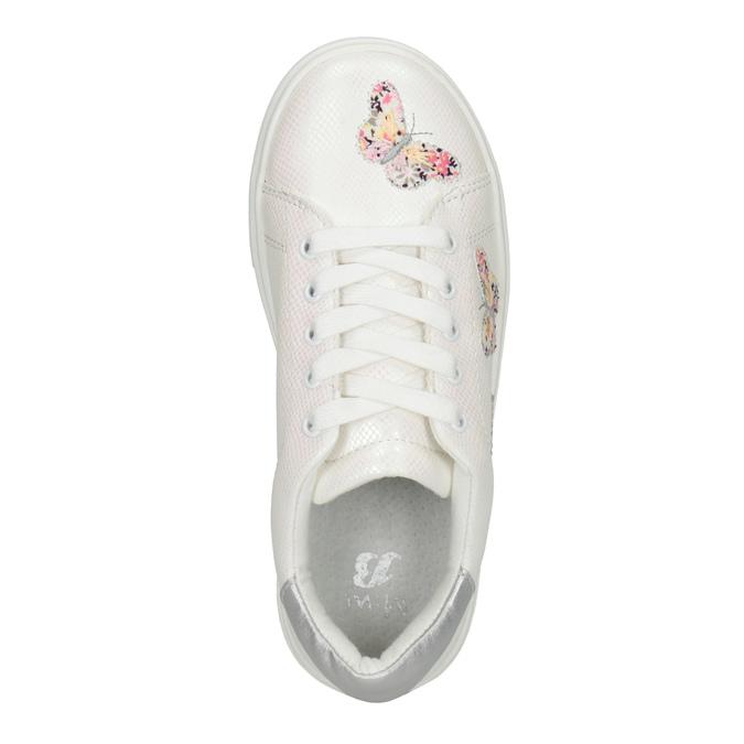 Bílé dívčí tenisky s motýlky mini-b, bílá, 321-1618 - 15