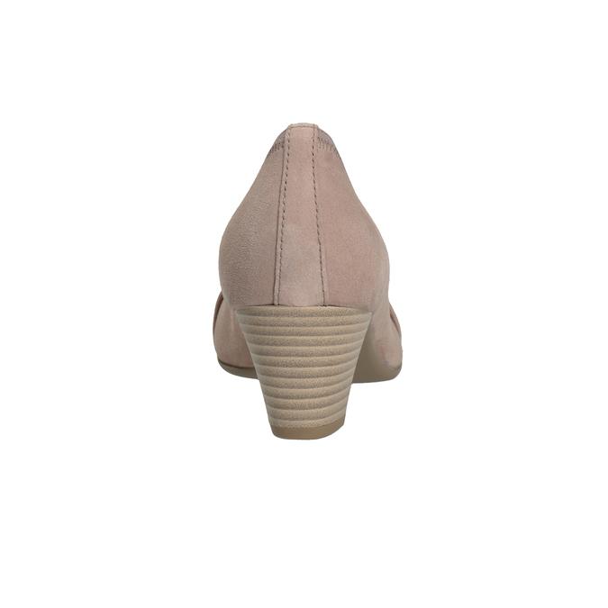 Kožené lodičky s kamínky gabor, růžová, 723-5066 - 16