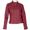 Koženková dámská bunda červená bata, červená, 971-5206 - 13
