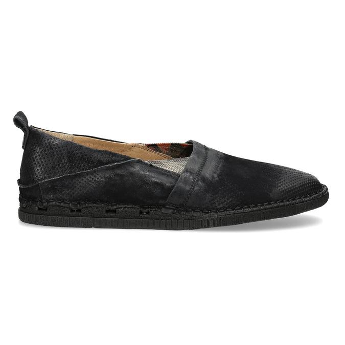 Ležérní kožené Slip-on boty a-s-98, černá, 816-6058 - 19