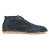 Kožená kotníčková obuv pánská modrá a-s-98, modrá, 826-9003 - 19