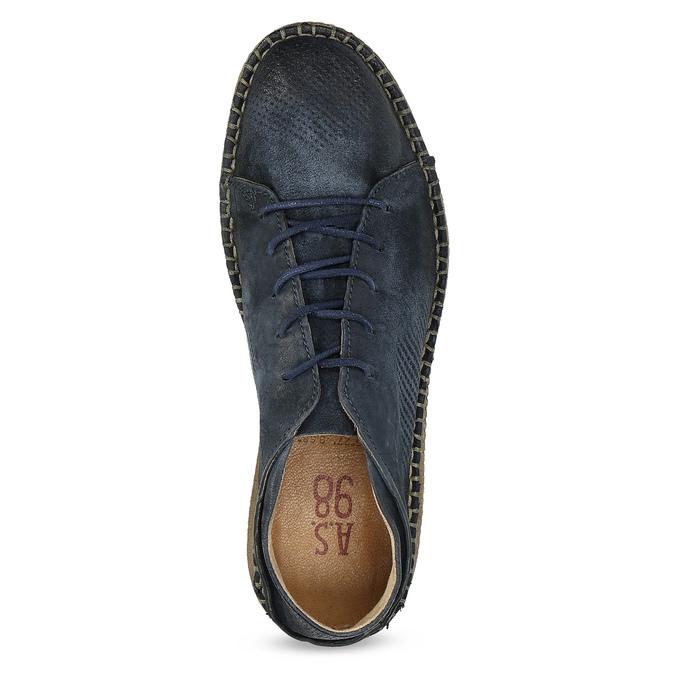 Kožené boty ve stylu Desert Boots modré a-s-98, modrá, 826-9002 - 17