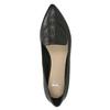 Kožené dámské Loafers s perforací bata, černá, 524-6659 - 17