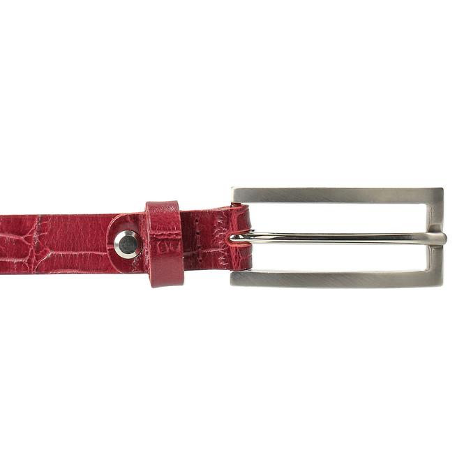 Červený dámský opasek z kůže bata, červená, 954-5204 - 26