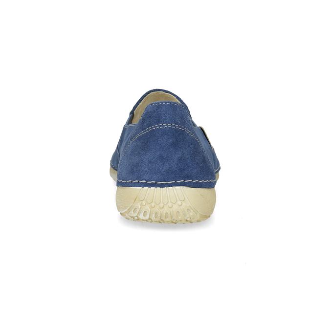 Dámské kožené Slip-on modré weinbrenner, modrá, 536-9606 - 15
