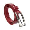 Červený dámský opasek z kůže bata, červená, 954-5204 - 13