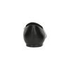 Kožené dámské Loafers s perforací bata, černá, 524-6659 - 15