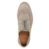Pánské kožené Brogue polobotky bata, šedá, 823-2619 - 17