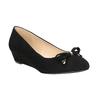 Lodičky na klínku s mašlí bata, černá, 629-6633 - 13