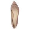 Kožené dámské lodičky s perforací insolia, 723-5660 - 17