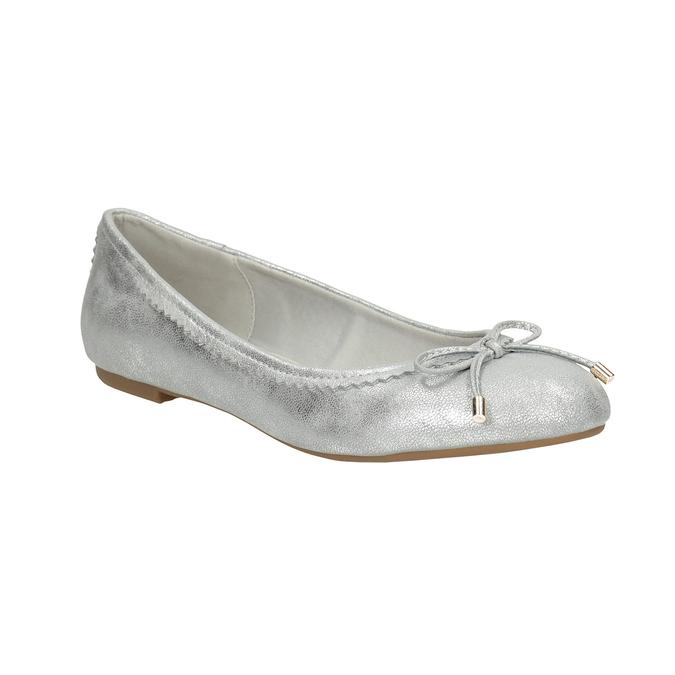 Stříbrné baleríny s mašlí bata, 521-1611 - 13