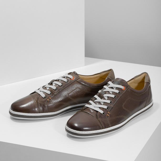 Kožené pánské tenisky bata, hnědá, 846-4617 - 16