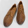 Kožené ležérní polobotky s perforací bata, hnědá, 856-3601 - 16