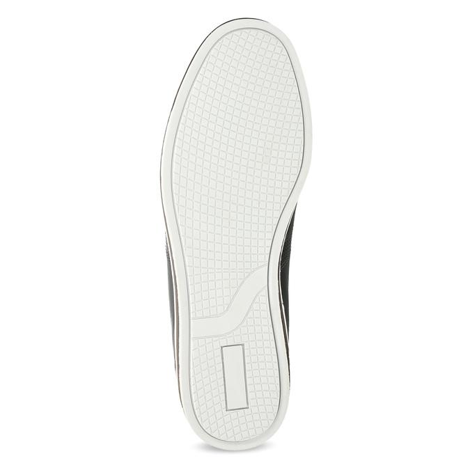 Pánské kožené tenisky bata, černá, 846-6617 - 18