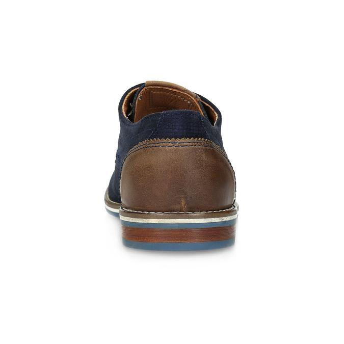 Kožené polobotky s pruhovanou podešví bata, modrá, 823-9600 - 15