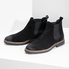 Chelsea Boots z broušené kůže bata, černá, 823-6628 - 16