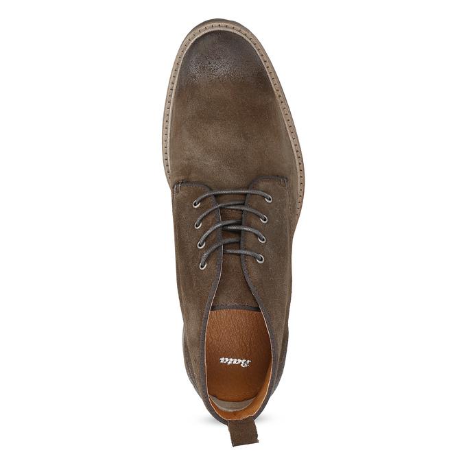 Kožená obuv ve stylu Chukka Boots bata, hnědá, 823-4627 - 17