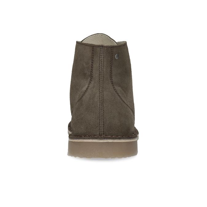 Kotníčková obuv z broušené kůže bata, khaki, 823-7629 - 15