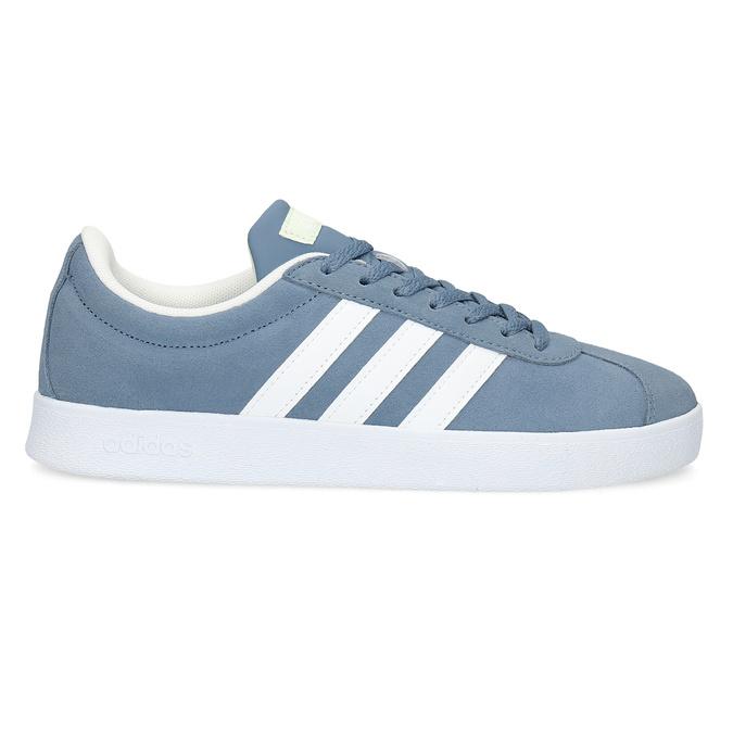 Tenisky z modré broušené kůže adidas, modrá, 503-2379 - 19