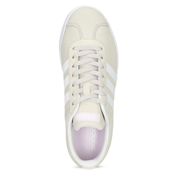 Béžové dámské kožené tenisky adidas, béžová, 503-8379 - 17