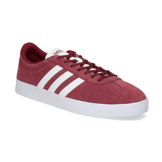Adidas Červené pánské tenisky z broušené kůže - Všechny boty  426118ad98b