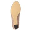 Lodičky na nízkém klínovém podpatku bata, béžová, 629-8633 - 19