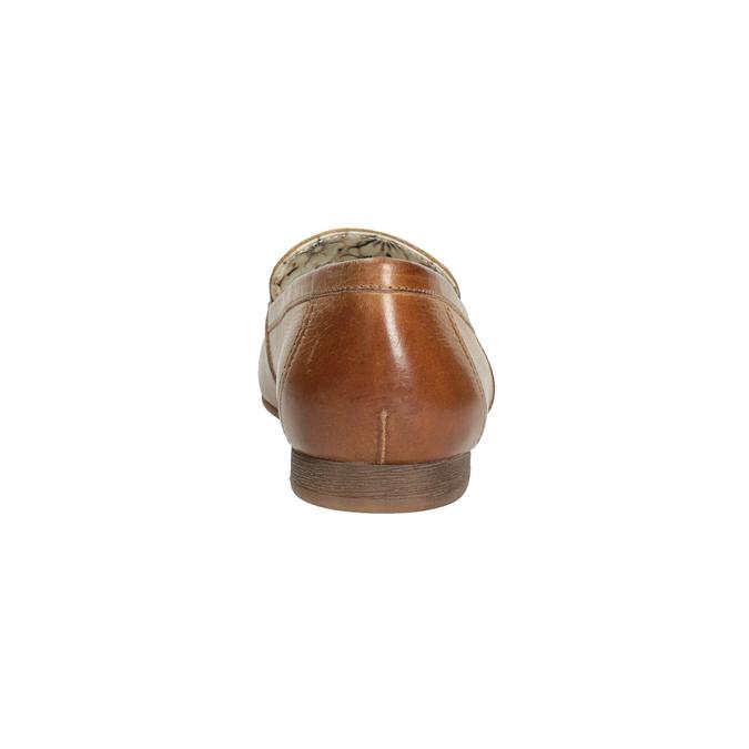 Hnědé kožené mokasíny s přezkou bata, hnědá, 516-3615 - 16