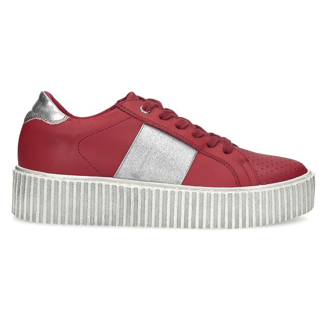Červené kožené tenisky na flatformě bata, červená, 546-5616 - 19