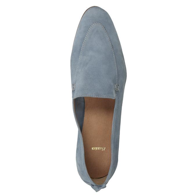 Ležérní mokasíny z broušené kůže bata, modrá, 516-9618 - 17
