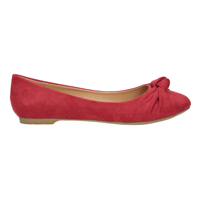 Červené baleríny s mašlí bata, červená, 529-5637 - 26