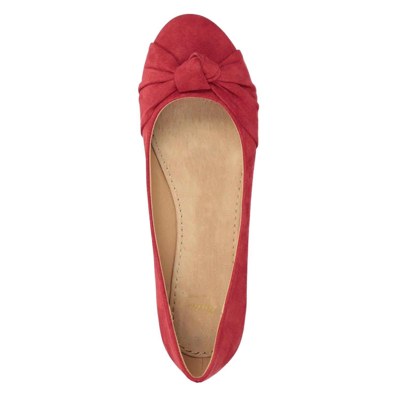 5911786da ... Červené baleríny s mašlí bata, červená, 529-5637 - 15 ...