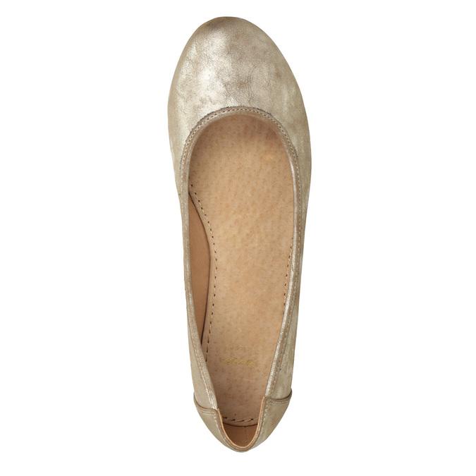Zlaté dámské baleríny bata, 529-8640 - 15