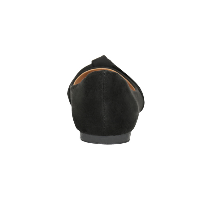 Dámské baleríny s mašlí bata, černá, 529-6637 - 16