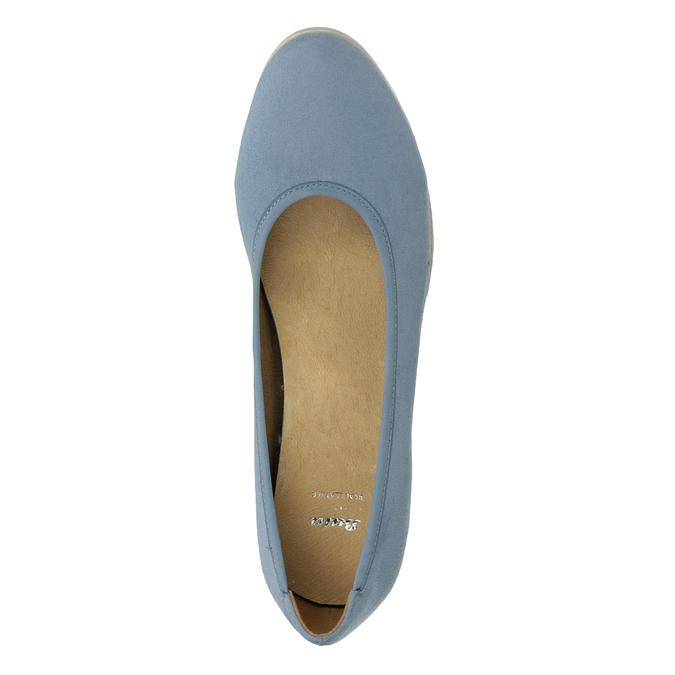 Dámské lodičky na klínku modré bata, modrá, 629-9636 - 17