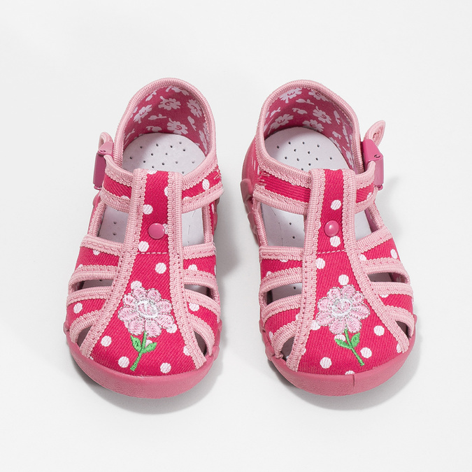 Dívčí růžové pantofle mini-b, 179-5601 - 16