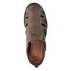 Kožené pánské sandály comfit, hnědá, 856-4605 - 17
