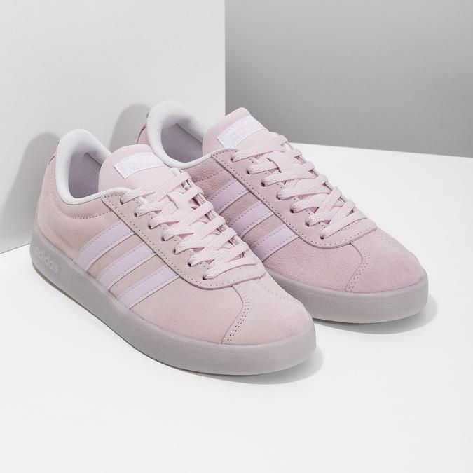 Růžové tenisky z broušené kůže adidas, růžová, 503-5579 - 26