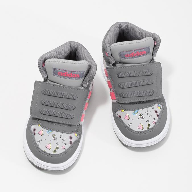 Šedé kotníčkové tenisky s potiskem adidas, šedá, 101-2125 - 16