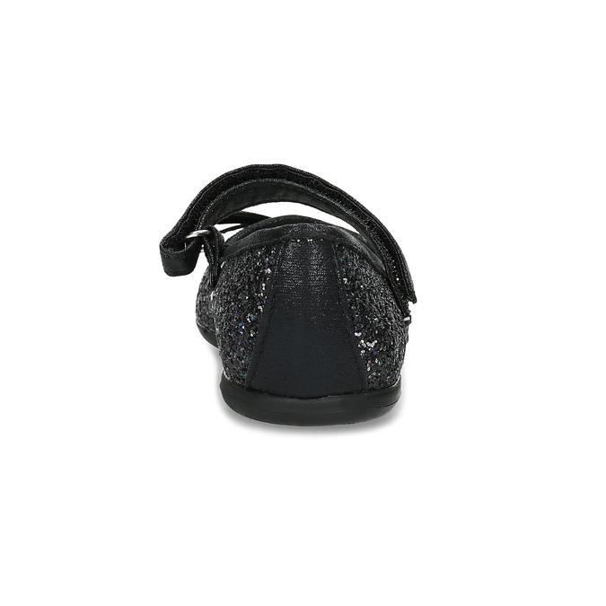 Černé dívčí baleríny se třpytkami mini-b, černá, 229-6103 - 15