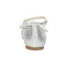 Stříbrné dívčí baleríny s mašlí mini-b, stříbrná, 329-1227 - 15