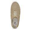 Kožené tenisky s Brogue zdobením mini-b, béžová, 313-3191 - 17