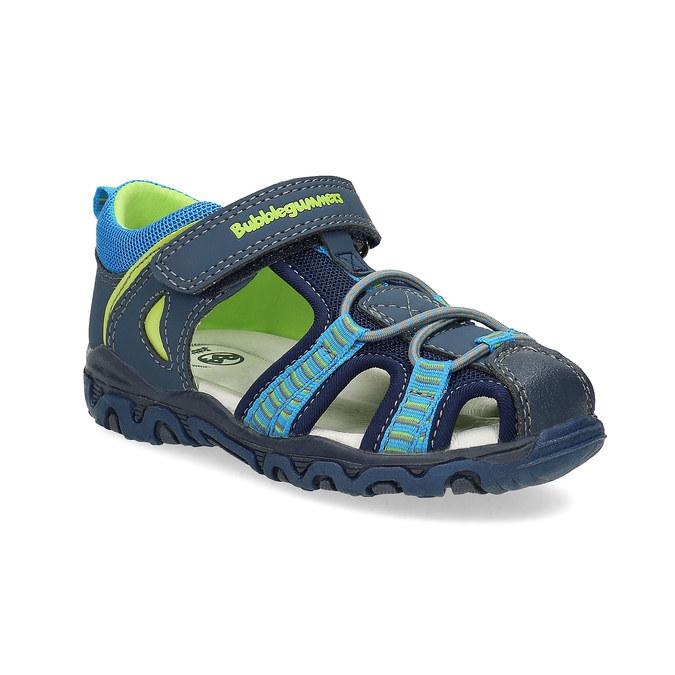 Dětské sandály na suchý zip bubblegummers, modrá, 161-9609 - 13