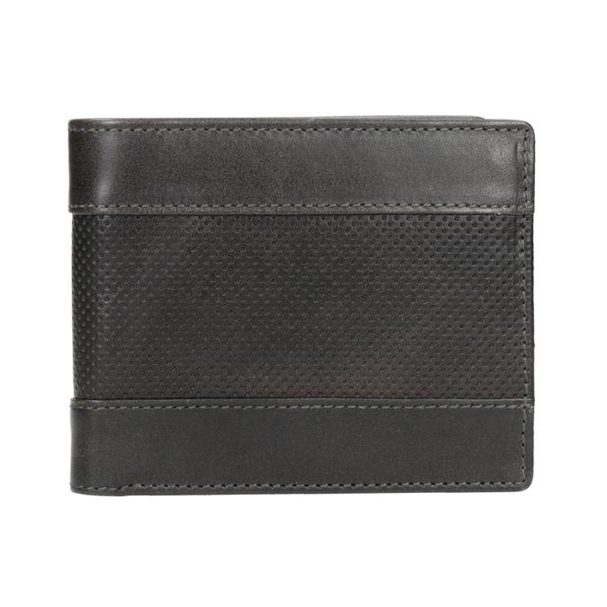 Kožená pánská peněženka s perforací bata, šedá, 944-2192 - 26
