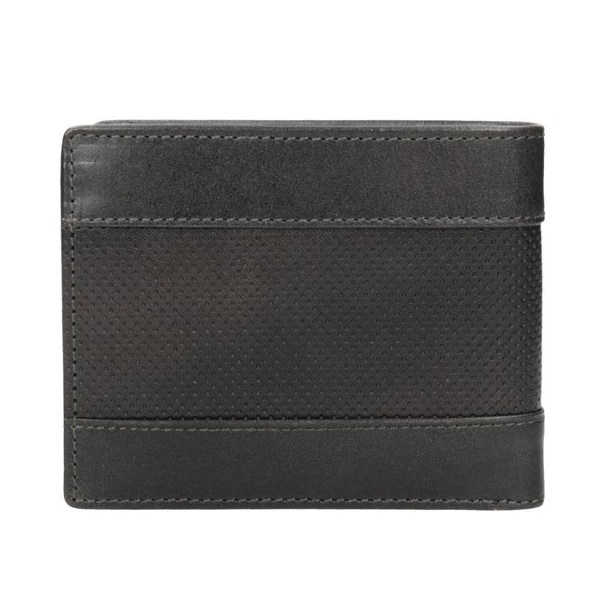 Kožená pánská peněženka s perforací bata, šedá, 944-2192 - 16
