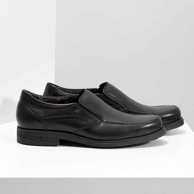Kožené pánské Loafers fluchos, černá, 814-6600 - 16