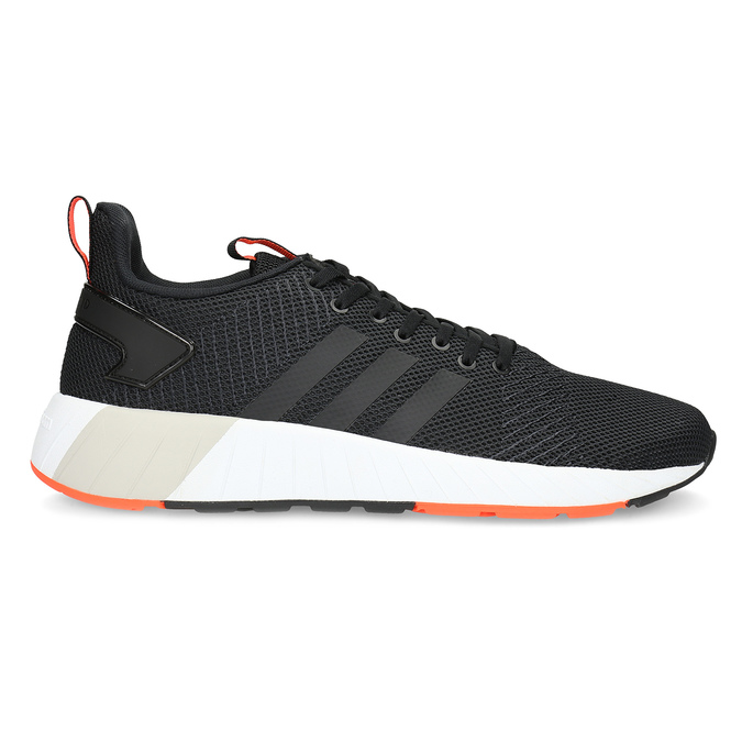 Pánské černé tenisky s oranžovými detaily adidas, černá, 809-6579 - 19