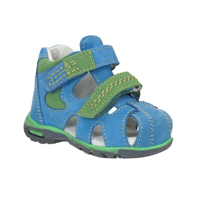 Bubblegummers Dětské modré kožené sandály - Sandály  61b4605858