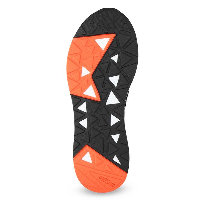 Pánské černé tenisky s oranžovými detaily adidas, černá, 809-6579 - 18