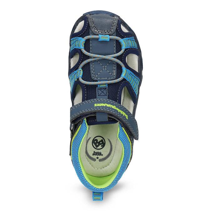 Dětské sandály na suchý zip bubblegummers, modrá, 161-9609 - 17